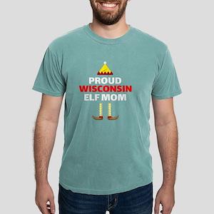 Wisconsin Elf Mom Christmas Sports Pride D T-Shirt