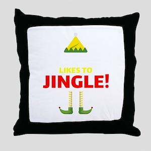 Elf Party Shirts Christmas Likes To J Throw Pillow