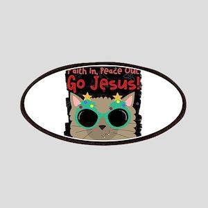 Faith Peace Cat This Loves Jesus Christian C Patch