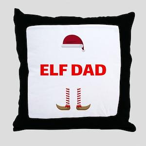 Wisconsin Elf Dad Christmas In Badger Throw Pillow