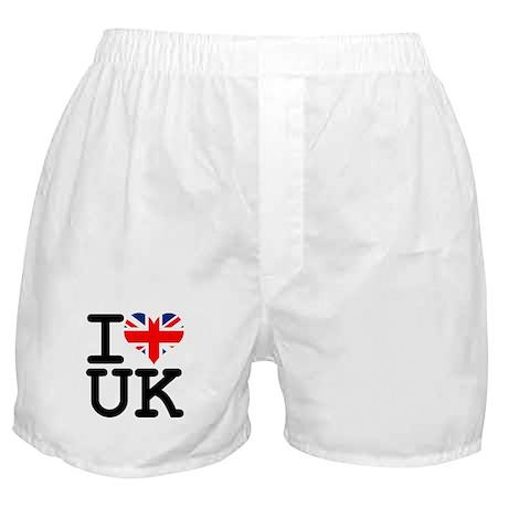 I Heart UK Boxer Shorts