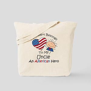 My Heart Belongs to My Uncle Tote Bag