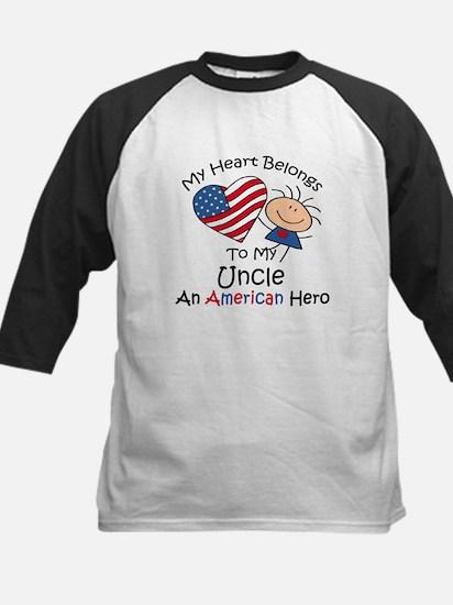 My Heart Belongs to My Uncle Kids Baseball Jersey