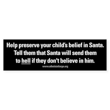 Santa Hell bumper sticker