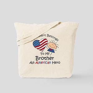 My Heart Belongs to My Brothe Tote Bag