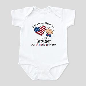 My Heart Belongs to My Brothe Infant Bodysuit