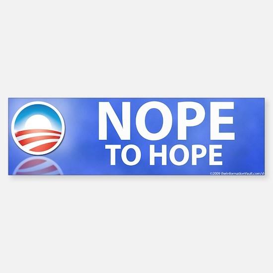 Nope to Hope (Bumper Sticker)