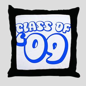Class Of 09 (Blue Bubble) Throw Pillow