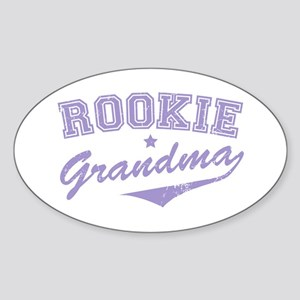 Rookie Grandma Oval Sticker