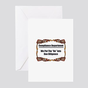 Due Diligence Compliance Greeting Cards (Pk of 10)