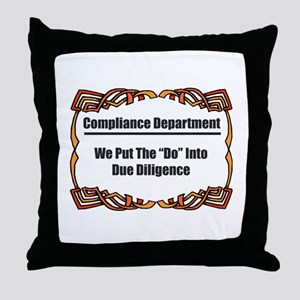 Due Diligence Compliance Throw Pillow