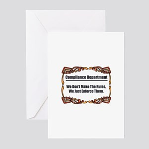 Enforce The Rules Greeting Cards (Pk of 10)