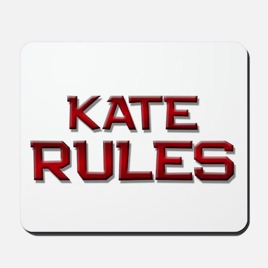 kate rules Mousepad
