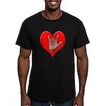 ILY Heart Men's Fitted T-Shirt (dark)