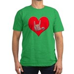 Mom and Baby ILY in Heart Men's Fitted T-Shirt (da