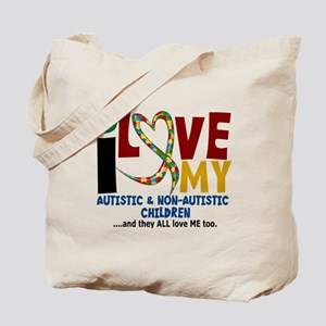 I Love My Autistic & NonAutistic Children 2 Tote B