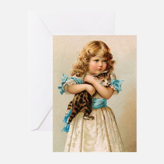 """""""Victorian Girl"""" Greeting Cards (Pk of 10)"""
