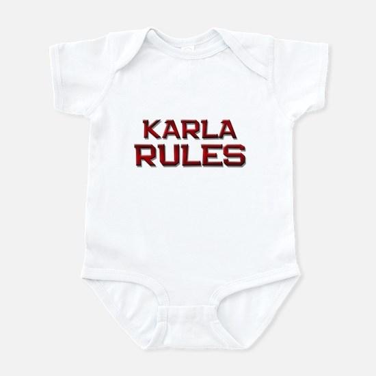 karla rules Infant Bodysuit