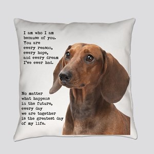 Dachshund Everyday Pillow