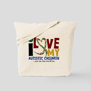 I Love My Autistic Children 2 Tote Bag
