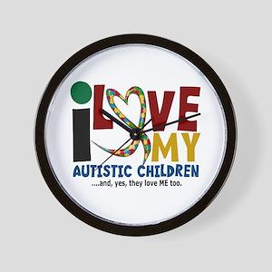 I Love My Autistic Children 2 Wall Clock