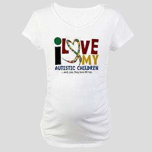 I Love My Autistic Children 2 Maternity T-Shirt
