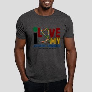 I Love My Autistic Children 2 Dark T-Shirt