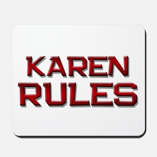 karen rules Mousepad