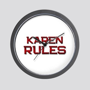 karen rules Wall Clock