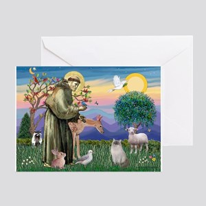 St Francis / Ragdoll Greeting Card