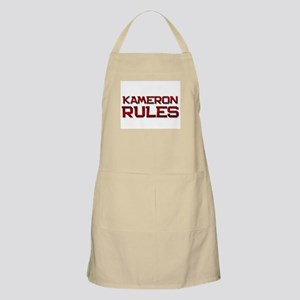 kameron rules BBQ Apron
