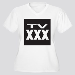 TV XXX Rating Women's Plus Size V-Neck T-Shirt