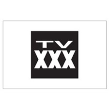 TV XXX Rating Large Poster