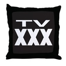 TV XXX Rating Throw Pillow