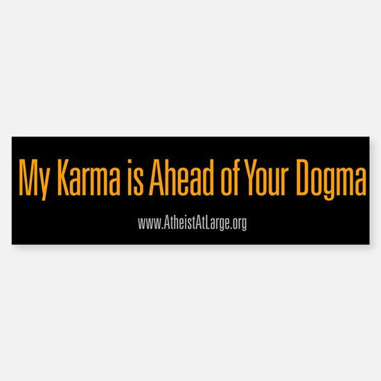 Karma vs. Dogma bumper sticker