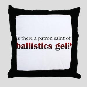 Ballistics Gel Throw Pillow