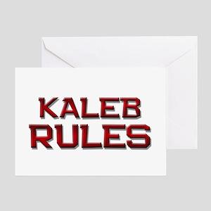 kaleb rules Greeting Card