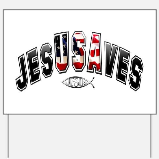 USA Jesus Yard Sign