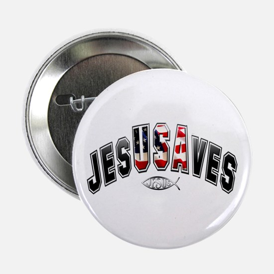 "USA Jesus 2.25"" Button (10 pack)"