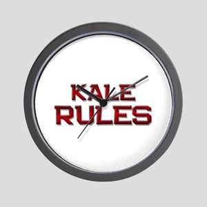 kale rules Wall Clock