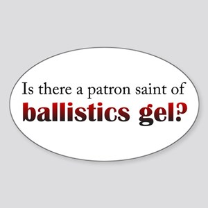 Ballistics Gel Oval Sticker