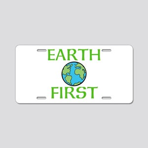 EARTH FIRST Aluminum License Plate