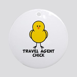 Travel Agent Chick Ornament (Round)