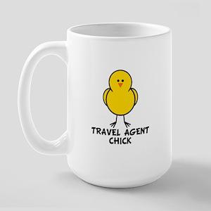 Travel Agent Chick Large Mug
