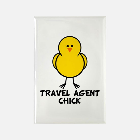 Travel Agent Chick Rectangle Magnet