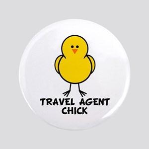 """Travel Agent Chick 3.5"""" Button"""