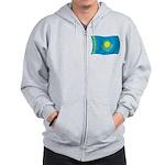 Kazakhstan Flag Zip Hoodie