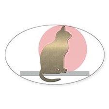 Funny Gold Cat Sticker