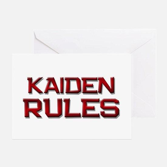 kaiden rules Greeting Card