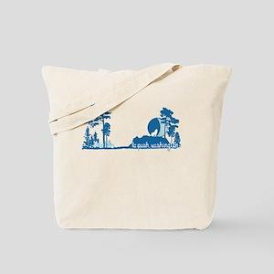 Twilight Shirt-La Push New Moon Tree Line Tote Bag